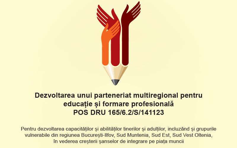 Conferința de finalizare a proiectului POSDRU/165/6.2/S/141123 – Dezvoltarea unui parteneriat multiregional pentru educație și formare