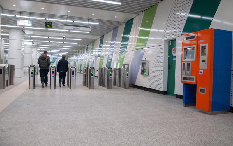 UTI has finalized the works for Laminorului– Straulesti subway stations