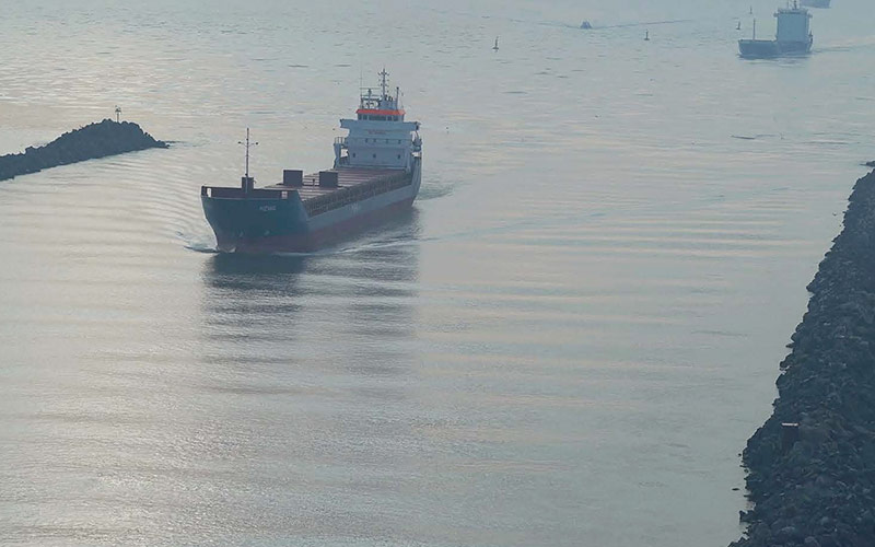 UTI installed the surveillance system for the traffic of maritime ships that cross the Sulina Channel