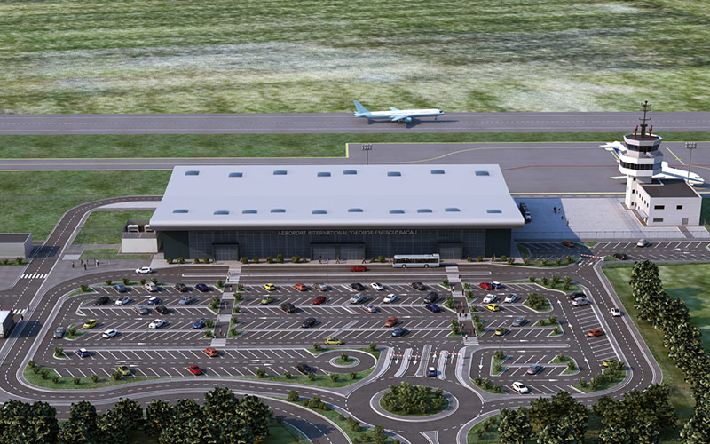 Bacau International Airport new passenger terminal is inaugurated in November 2017